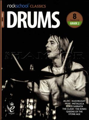 Rockschool Classics Drums Grade 2 Book/Audio