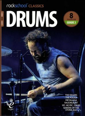 Rockschool Classics Drums Grade 3 Book/Audio