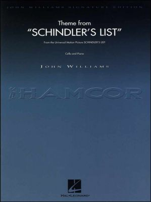 Theme from Schindlers List for Cello and Piano