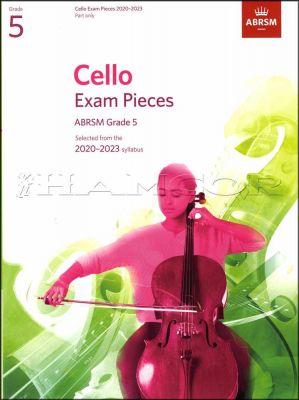 Cello Exam Pieces 2020-2023 Grade 5 Part Only ABRSM