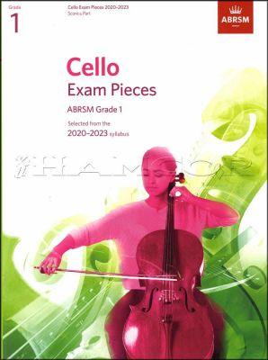 Cello Exam Pieces 2020-2023 Grade 1 Score & Part ABRSM