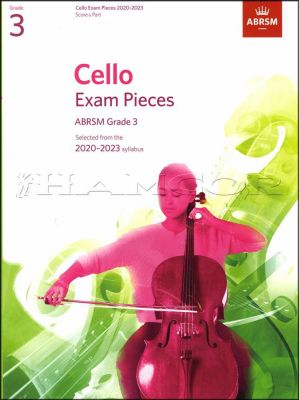 Cello Exam Pieces 2020-2023 Grade 3 Score & Part ABRSM