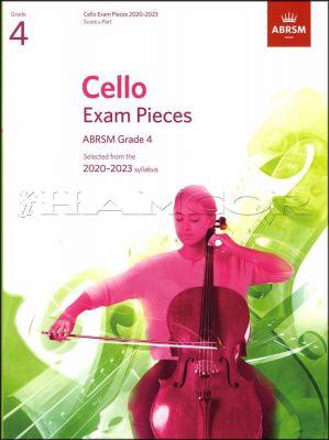 Cello Exam Pieces 2020-2023 Grade 4 Score & Part ABRSM