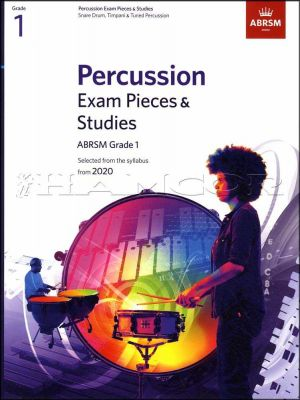 Percussion Exam Pieces & Studies Grade 1 from 2020 ABRSM