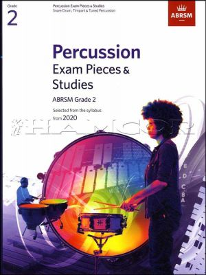 Percussion Exam Pieces & Studies Grade 2 from 2020 ABRSM