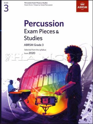 Percussion Exam Pieces & Studies Grade 3 from 2020 ABRSM