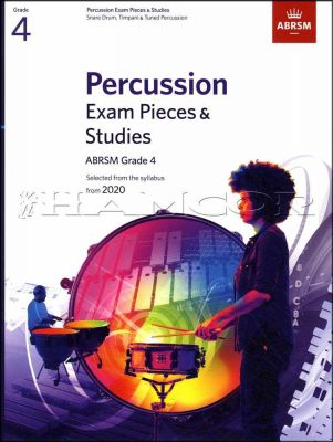 Percussion Exam Pieces & Studies Grade 4 from 2020 ABRSM