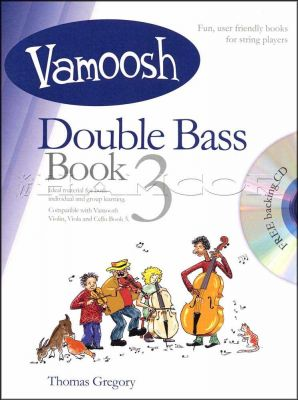 Vamoosh Double Bass 3 Music Book/CD