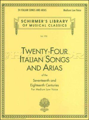 Twenty-Four Italian Songs & Arias Medium Low Voice