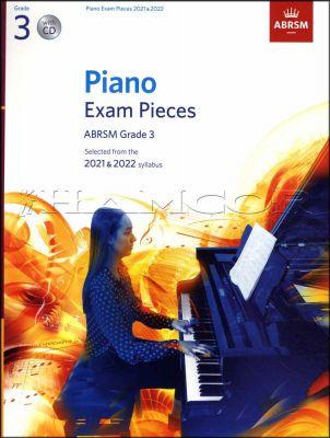 Piano Exam Pieces 2021-2022 ABRSM Grade 3 Book/CD
