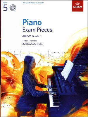 Piano Exam Pieces 2021-2022 ABRSM Grade 5 Book/CD