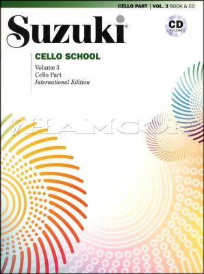 Suzuki Cello School Volume 3 Book/CD International