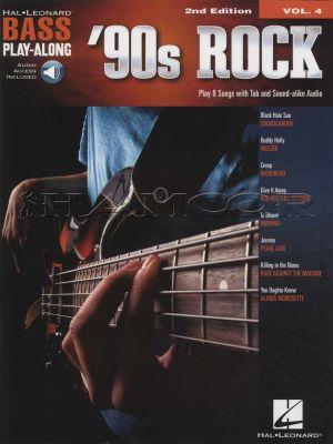 90s Rock Bass Play Along Book/Audio