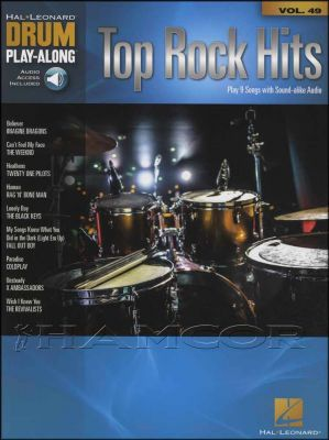 Top Rock Hits Drum Play-Along Book/Audio