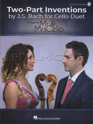 Two Part Inventions by J. S. Bach for Cello Duet Book/Audio