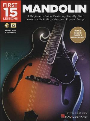 First 15 Lessons Mandolin Book/Audio/Video