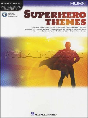 Superhero Themes Horn Play-Along Book/Audio