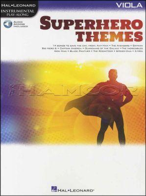 Superhero Themes Viola Play-Along Book/Audio