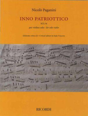 Paganini Inno Patriottico for Solo Violin